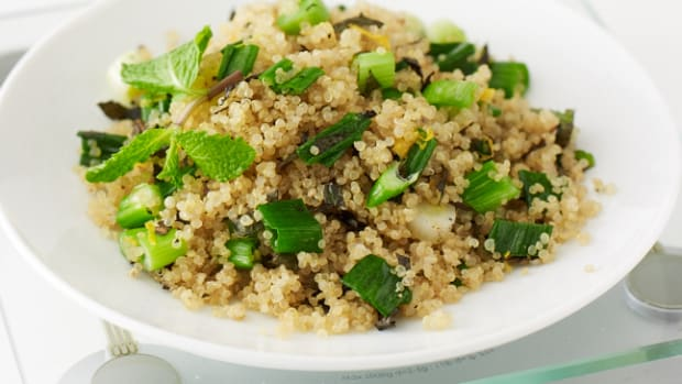 sauteed quinoa with mint