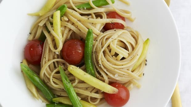 grilled vegetable linguini