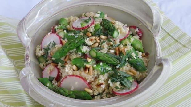 Quinoa Asparagus Salad
