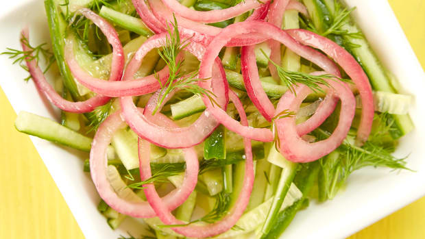 Cucumber Dill Pickled Red Onion Slaw