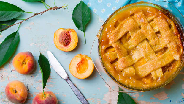 peach pie stock