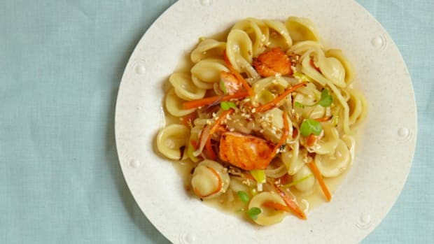 Risotto Style Pasta with Salmon