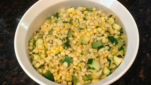 corn and zucchini salad
