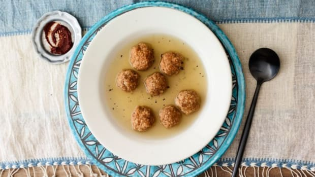 HARISSA MATZO BALL SOUP