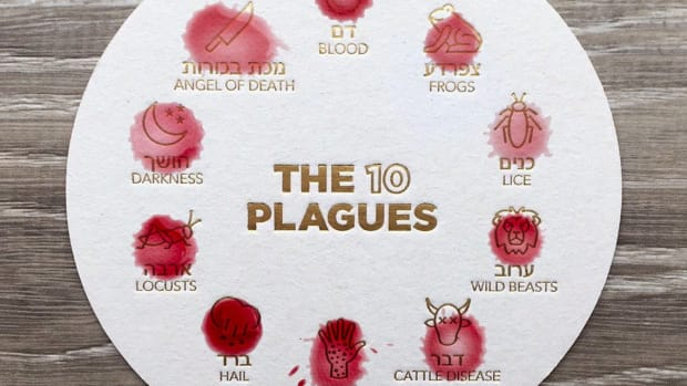 10 Plagues Coaster with wine drops