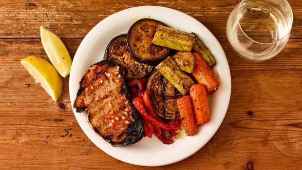 Vegan Shawarma Spiced Grilled Veggies