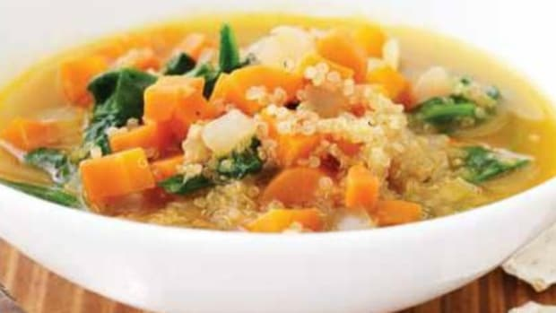 Carrot, Quinoa & Spinach Soup