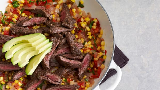 One Pot Mexican Skirt Steak Skillet with Corn