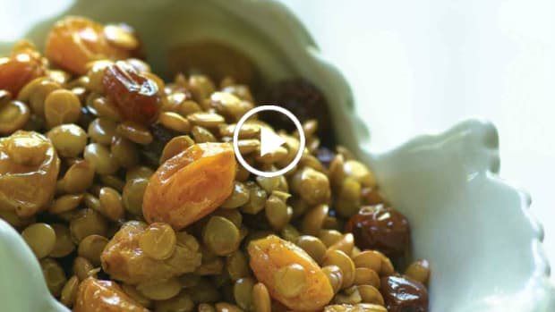 Champagne Sweetened Lentils Recipe