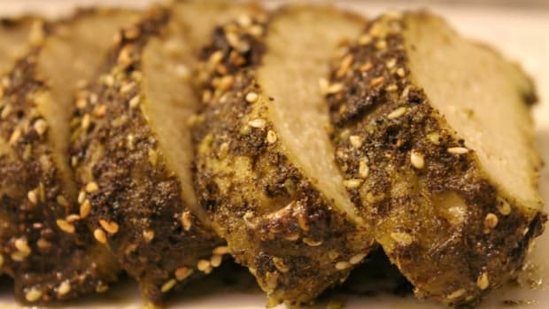 zaatar crusted gefilte fish