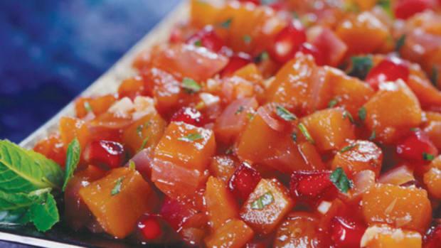 pomegranate eggplant relish