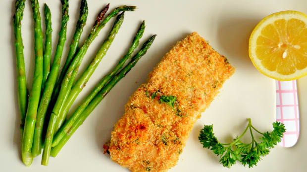 Honey Mustard Panko Salmon