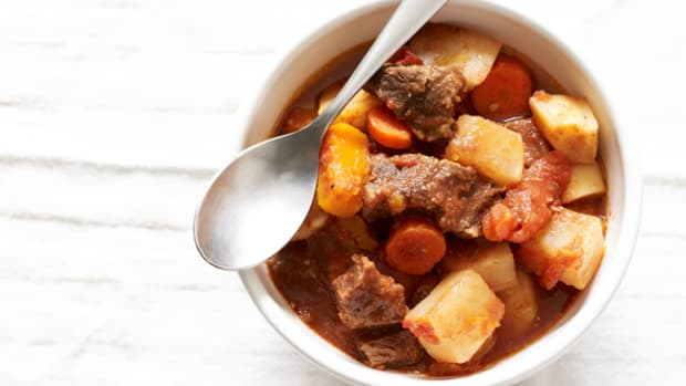 Slow Cooker Beef Stew with Root Vegetables