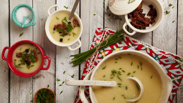 PARSNIP SOUP WITH DUCK