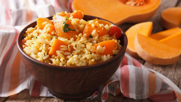 Autumn Rice Pilaf with Butternut Squash