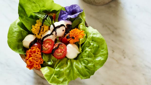 Edible Flowerpot Salad