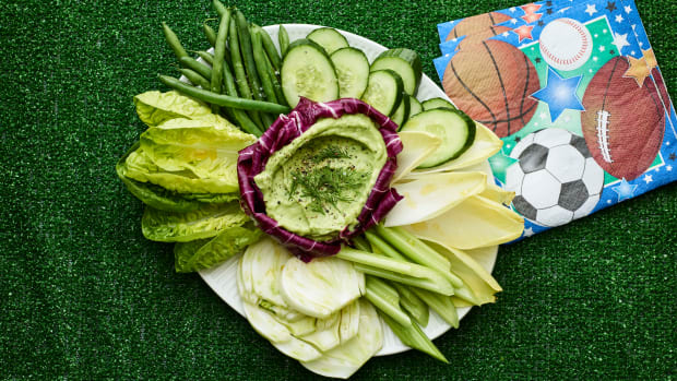 Green Goddess Dip and Crudites