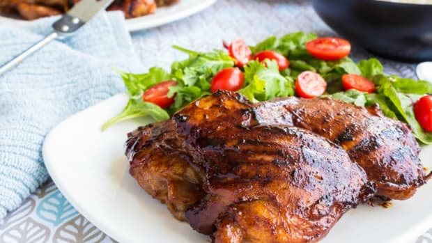 grilled pargiyot chicken thighs