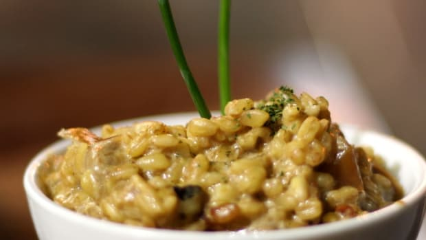 Barley Risotto for Spring with Asparagus and Lemon