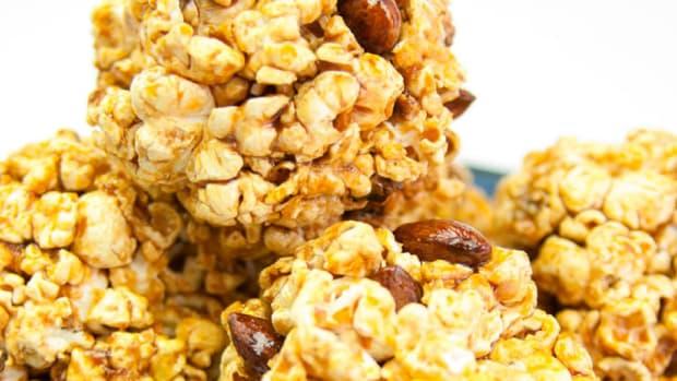 almond popcorn balls