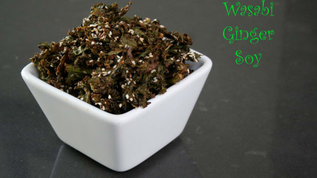 Wasabi soy ginger kale chips
