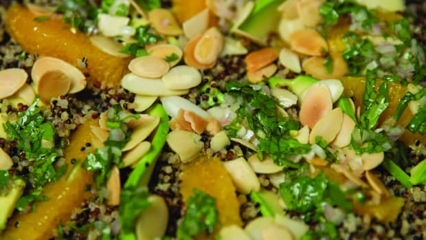 Quinoa Salad with Avocado, Orange, and Toasted Almonds
