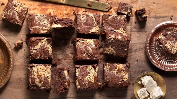 Tahini Halva Brownies