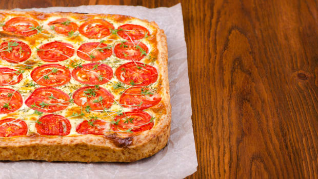Fresh Tomato And Ricotta Tart