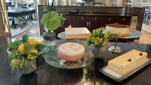 Cheesecakes at the Waldorf astoria jerusalem