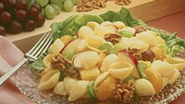 Pasta and Walnut Fruit Salad