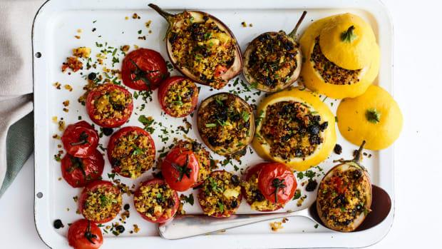 Quinoa Stuffed Roasted Tomatoes