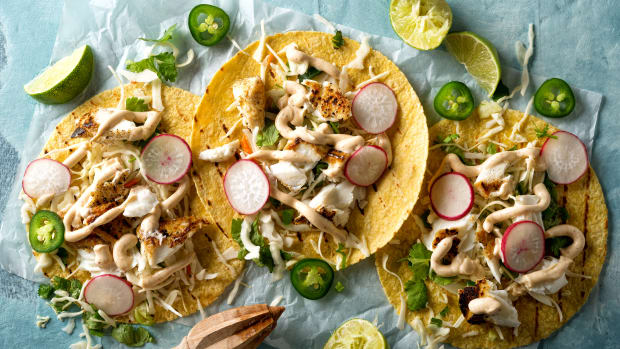 Fish Tacos with Chipotle Mayo