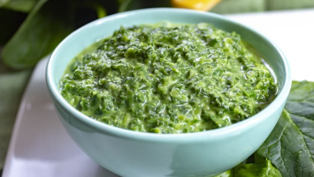Dairy Free Creamed Spinach Side dish