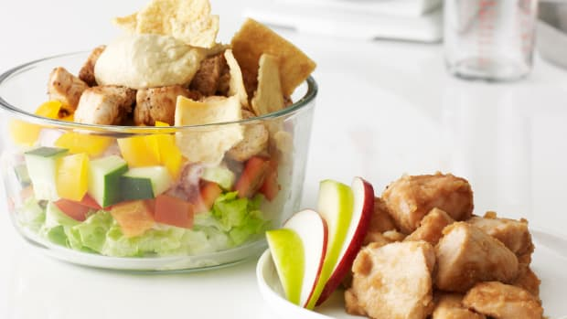 Apple Chicken and Shawarma Salad