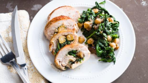 Spinach chicken roll ups