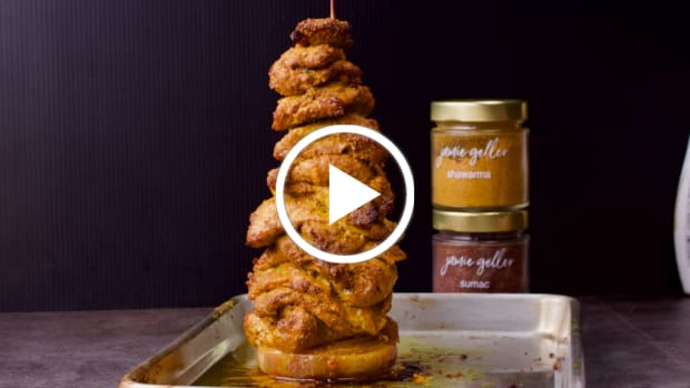 Shawarma Skewer in Laffa- featured