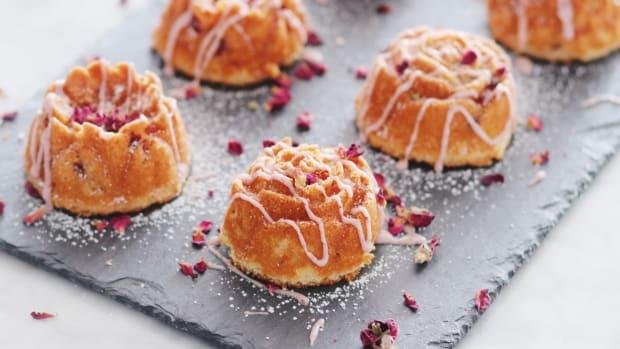 Mini Lemon-Strawberry Bundt Cakes with a Sumac Glaze