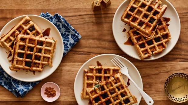Kale Savory Waffles
