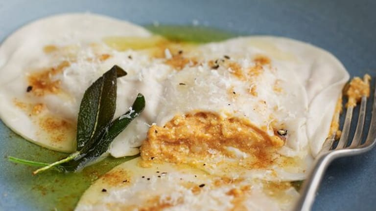 Cooking with Joy: Pumpkin Spice Ravioli with Brown Butter