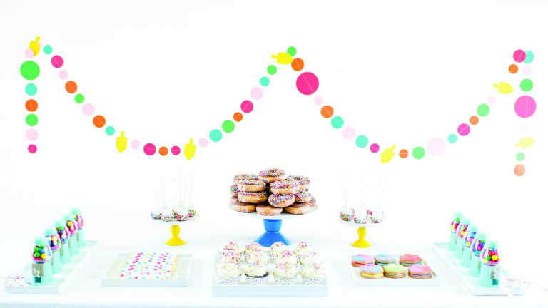 Dessert Table Decor for Hanukkah