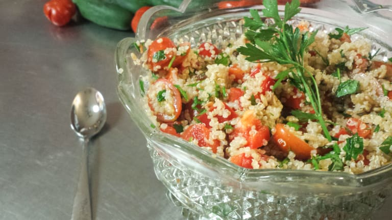 Protein Powered Salad - Quinoa Tabbouleh