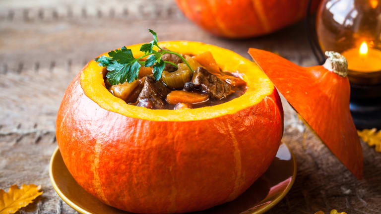 How Do I Reheat Stew in a Pumpkin Shell?