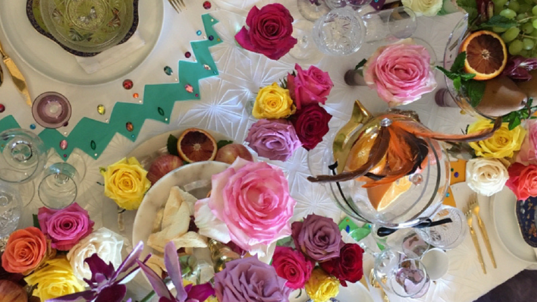 Purim Tablescape