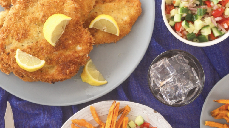 How To Eat Schnitzel Like an Israeli Shabbat Menu