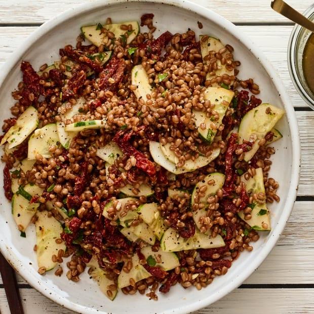 3 ingredient wheatberry salad