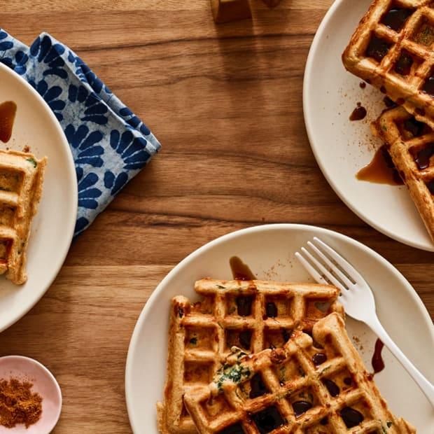 Kale Ricotta Waffles