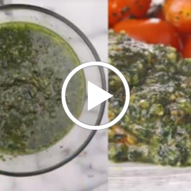 kale almond pesto with 3 recipes to use it