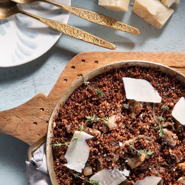 Mushroom Quinoa Risotto