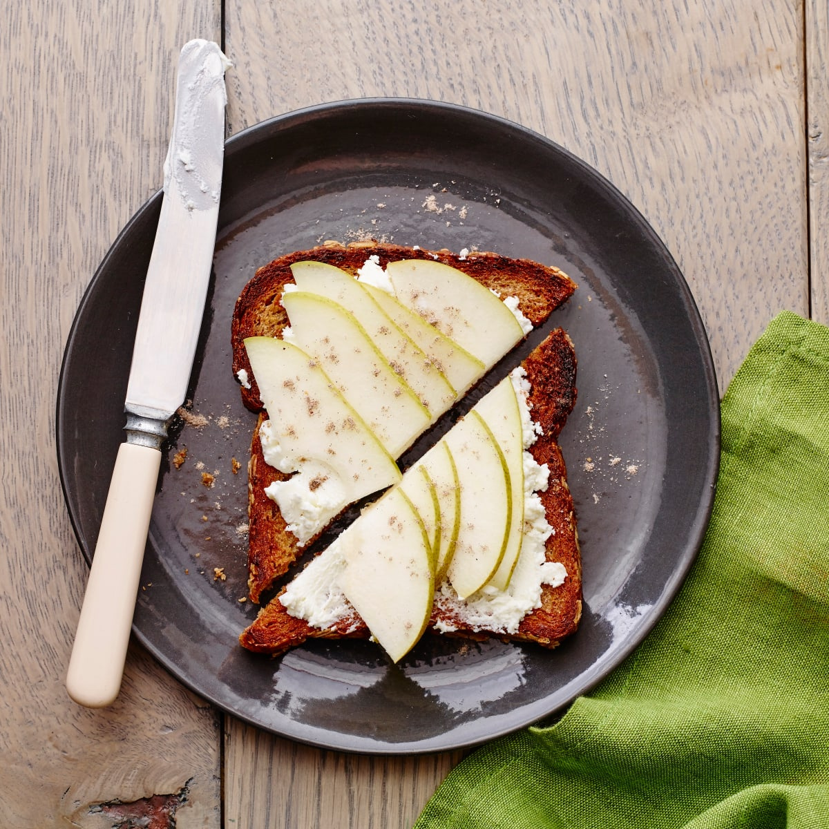 Pear and Goat Cheese Toast - Jamie Geller