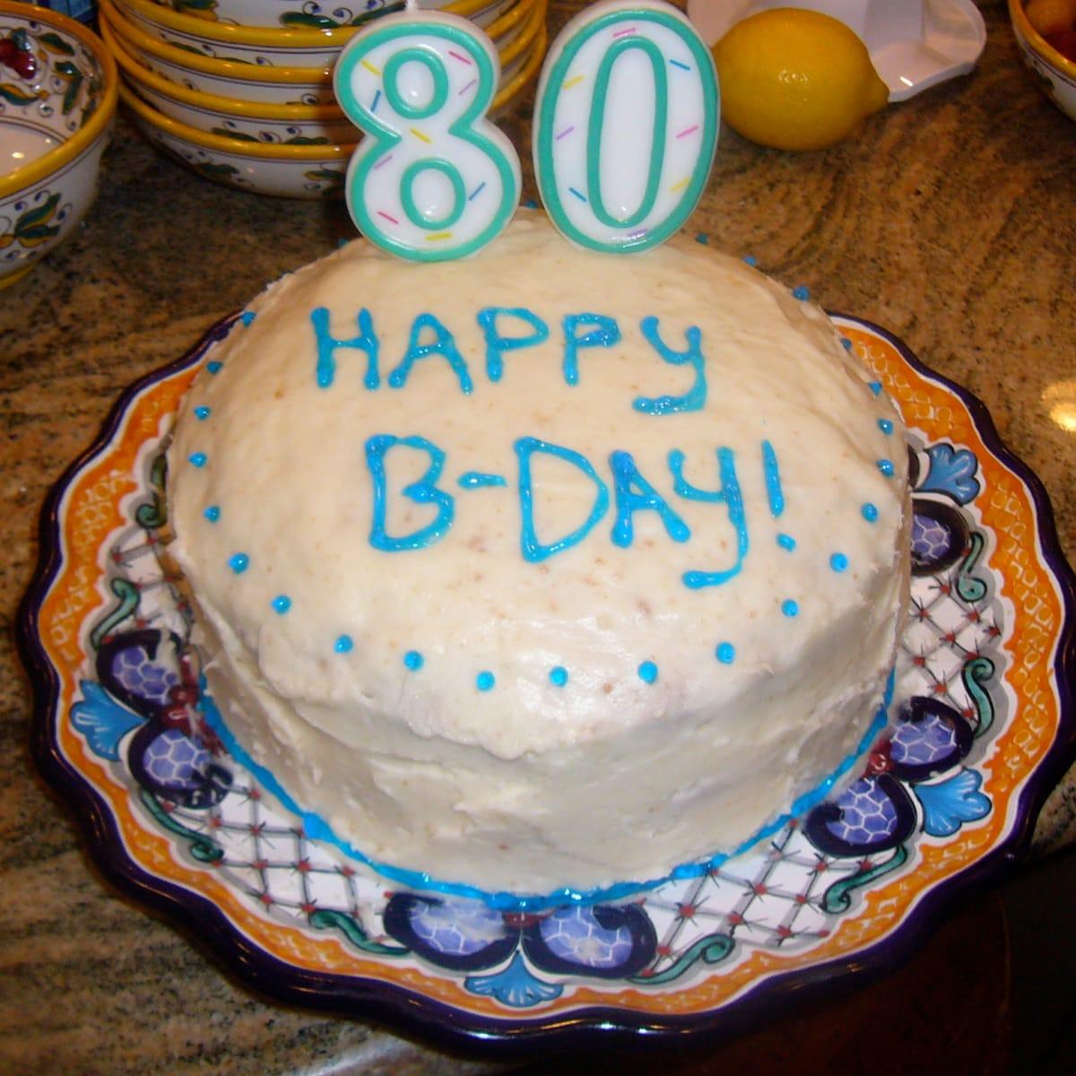 Incredible White Birthday Cake With Buttercream Frosting Jamie Geller Funny Birthday Cards Online Benoljebrpdamsfinfo